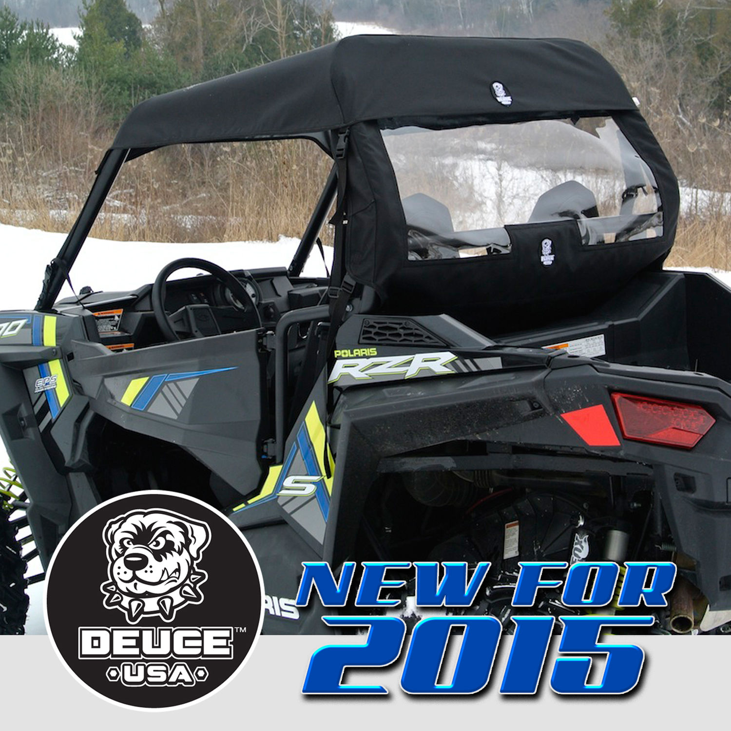 Deuce USA Polaris 2018-2015 RZR S900 S900 EPS Trail Soft Top Window Set 900XC